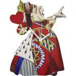 Lark Rise Designs Wooden Clock 壁掛け時計 /ふしぎの国のアリスQueen of Hearts